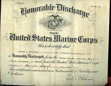 USMC discharge B Smolinski, 31 Marine Air Group, Central Pacific & many papers