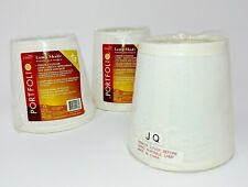 """LOT OF 3 OFF WHITE Chandelier Mini Lamp Fabric Shades Hardback 3""""w by 4""""w by 4h"""""""
