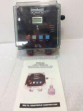 "DELTA CONTROLS MOD:873C-1/2-V-6""/150# FV-50P-AA ULTRASONIC LEVEL CONTROLLER"