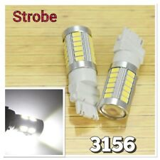 Strobe Reverse Backup T25 3156 3456 33 SMD White LED Light K1 For Buick Mazda HA