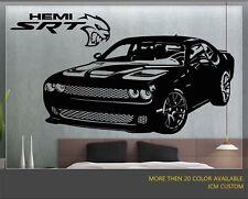 "Dodge Challenger SRT Supercharged HEMI Hellcat Wall Decal / 42"" X 22"""