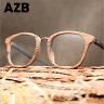 Unisex Clear Lens Acetate Imitation Wood Frame Eyeglasses Retro Optical Glasses