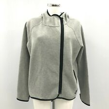 Nike Hooded Jumper Womens Size UK L Grey Cotton Casual Everyday Sports 291314