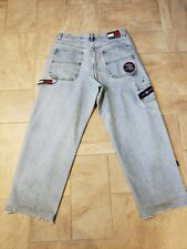 VTG 90s TOMMY HILFIGER CARPENTER JEANS 34x32 DENIM SPELL OUT