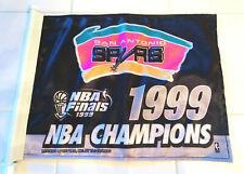 VINTAGE SAN ANTONIO SPURS 1999 NBA FINALS CHAMPIONS CAR WINDOW FLAG FIESTA LOGO