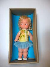 Vintage Girl Doll - Curly Blonde Hair, Still in Original Box - Made in Spain- C9