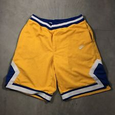NIKE Men Basketball Athletic Shorts Sz Large Yellow/purple