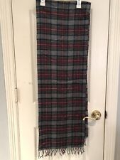 NWT Authentic Abercrombie And Fitch Plaid Multicolor Men Scarf $48 Wool Warm!