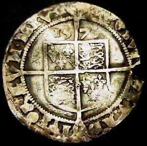 W190: 1575 Elizabeth 1st Hammered Silver Sixpence, im Eglantine, Spink 2563
