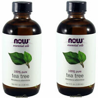 2 x Bottles NOW 100% Pure Tea Tree Essential Oil 4 oz, FRESH, Made In USA