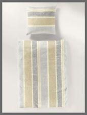 Bettwäsche 2 tlg 135x200 cm Bettgarnitur Garnitur Bierbaum Baumwolle Gold Silber