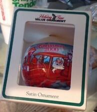 "1999 Train Santa Satin Ball Christmas Ornament 3"" in box General Foam Plastics"