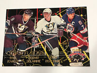 Kariya Selanne Tkachuk Fleer Dream Lines Insert Parallel Hockey Card 5 Ducks