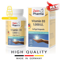 VITAMIN D3 1000 IU (200 softgel capsules) Oil form 1 cap Daily ZEINPHARMA