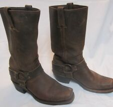 Vintage Brown FRYE Square Toe Harness Motorcycle Boots 77300-3 Size 9