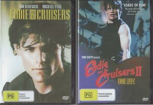 Eddie And The Cruisers 1 & 2 (II) DVDs - Michael Pare NEW & SEALED Free Post