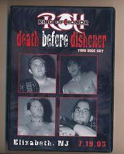 ROH Death Before Dishonor PWG Chikara ECW EVOLVE CZW CM PUNK v Raven OLD Logo