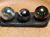 VINTAGE GLASS MARBLES JABO ACE TRANSITIONALS AV OXBLOOD VHTF RARE SET!! FREE S/H