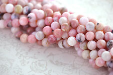 1 strand PINK PERUVIAN OPAL Gemstone Beads Round 11mm gop0005