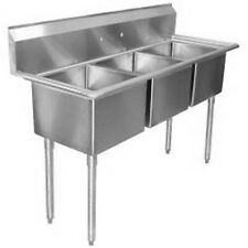 "Commercial Stainless Steel (3) Three Compartment Sink 20"" x 11"" Nsf Pick-Up Only"