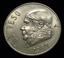 1981 Mexico 1 Peso Open 8 Nice Coin