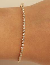 18K Yellow Gold Finish Elegant Round Diamond Tennis bracelet 1.50CT