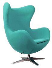 Egg Chair Poltrona turchese Arne Jacobsen basculante tessuto cashmere replica