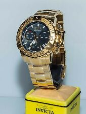 Invicta Subaqua Reserve 17501 Limited Edition Black MOP Gold Stainless Watch