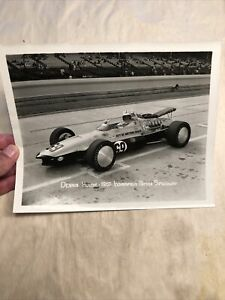 Orig Denny Dennis Hulme 1967 Indy 500  Speedway Signed Racing Photo Autograph