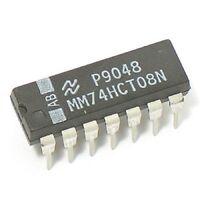 5PCS Fairchild MM74HCT08N 74HCT08N 74HCT08 - Quad 2-Input AND Gate - New IC