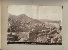 1880ca TEATRO GRECO TAORMINA Giovanni Crupi foto originale d'epoca all'albumina