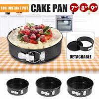 7/8/9'' Round Cake Tin Set Non Stick Spring Form Loose Base Baking Pan