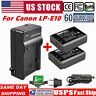 2x LP-E10 Battery+Charger for Canon Rebel T3 T5 T6 X50 X70 EOS 1100D 1200D 1300D