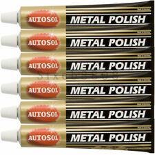 5pcs Autosol Solvol Chrome Polish / Cleaner Aluminium & Metal Paste 75ml