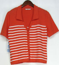 Casual Knit Striped 100% Cotton Tops & Blouses for Women