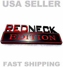 REDNECK EDITION car truck FORD EMBLEM logo decal SIGN black red ORNAMENT NEW .fv
