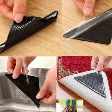 ANTI SLIP RUG GRIPPERS X4 Anti Curling Rubber Tape Floor Soft Mat Car S5