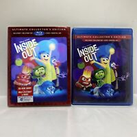 Inside Out Ultimate Collector blu-ray + DVD 3D Pixar Disney new sealed slipcover