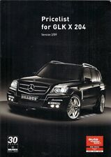 Brabus Mercedes-Benz GLK Price List 2009 Export Markets Brochure In English