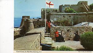 Postcard Channel Islands  Guernsey  Castle Cornet St Peter Port unposted  Hinde