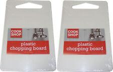 Taglieri bianchi in plastica