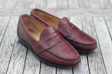 Men's Allen Edmonds Cameron in Pelle Bordeaux Mocassini 9.5 UK/10 US D