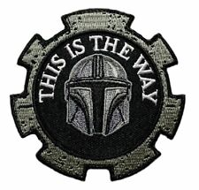 This is The Way Embroidered Mandalorian Patch [Iron on Sew on -TW7A]