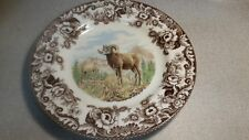 spode woodland set of 4 dinner plates NEW Big horn sheep and Red fox
