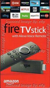 AMAZON FIRE TV STICK WITH ALEXA VOICE REMOTE 1080P MEDIA STREAMER 2ND GEN SEALED