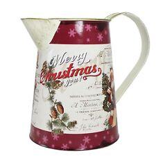 Diseño De Navidad Santa' ' plantadores de metal/jarra De Maceta - 16.5 Cm
