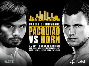 JEFF HORN vs MANNY PACQUIAO 8X10 PHOTO BOXING POSTER PICTURE