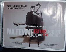 Cinema Poster: MA FEMME EST UNE ACTRICE 2001 (Quad) Charlotte Gainsbourg