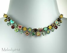 PILGRIM Vintage Gold Multi-Colour VICTORIAN PROMISE Swarovski Necklace BNWT