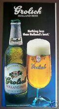 1985 Grolsch Holland Beer bottle photo vintage ad